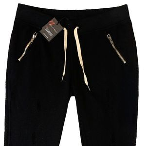 Black Joggers with Zippered Pockets